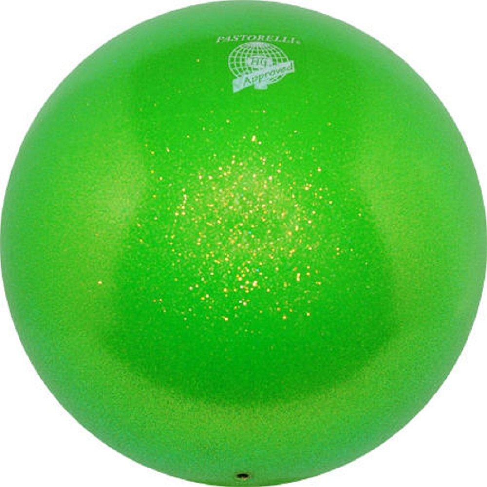 Pastorelli~GLITTER HV - Pelota de gimnasia rítmica (18 cm), Verde ...
