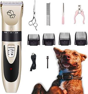 ناخن گیر مو سگ Kartice ، جعبه گیر موی حیوان خانگی خانگی ، کلیپس تراشنده اصلاح شونده سگ شارژی کم صدا با شانه قیچی کیت ناخن برای سگ ، گربه ، حیوانات خانگی