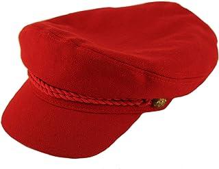 Men s 100% Soft Wool Greek Fisherman Sailor Fiddler Driver Hat Flat Cap b1e42282c538