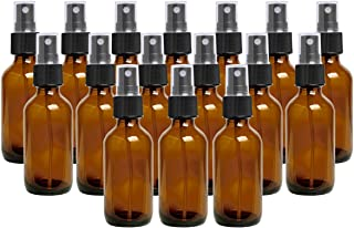 Glass Spray Bottle, 16Pack 2oz Empty Amber Mist Spray Bottles for Essential Oils, Aromatherapy, Alcohol Disinfection, Cleaning Solutions
