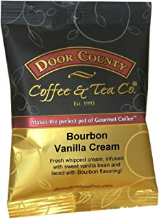 Door County Coffee, Ground, 1.5oz Full-Pot Bags (Bourbon Barrel Vanilla Creme, Full-Pot Bag)