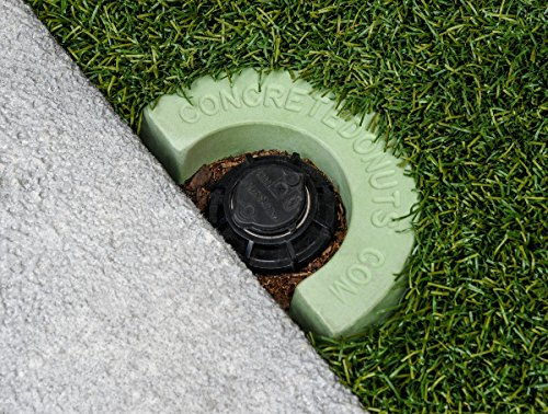 Concrete Donuts for a Rotary Head Half, Large, Green