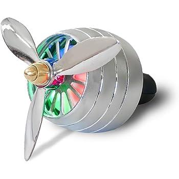 LADY THIKHAI LTK Car Air Freshener in Jet Engine Shape with Fan (Standard, Silver)