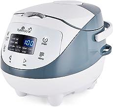 Yum Asia Panda Mini cuiseur à riz avec bol en céramique et Advanced Micom Fuzzy Logic (3,5 tasses, 0,63 litre), 4 fonction...