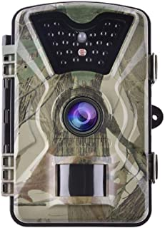 HD Wildlife Trailer Camera Trap 2.4 Inch LCD Monitor 12MP with Night Vision Motion Activated for Outdoor Natural Garden Ho...