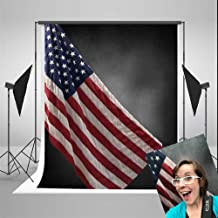 Kate American Flag Photography Backdrops 5x7ft Black Background for Independence Day Photo Booth Backdrop