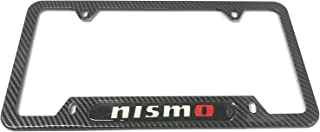 Mesport Carbon Fiber Style Stainless Steel Rust Free Nismo License Plate Cover Frames Holder with Screw Caps for Nissan (1)