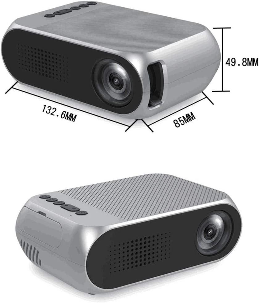 B Blesiya Beamer Mini 3D Full HD Tragbar Projektor Heimkino f/ür Film Unterhaltung Spiele Grau
