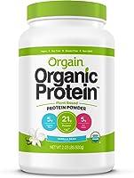 Orgain Organic Plant Based Protein Powder, Vanilla Bean - Vegan, Low Net Carbs, Non Dairy, Gluten Free, Lactose Free, No...