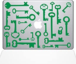 "The Decal Guru Skeleton Keys Macbook Decal Vinyl Sticker  - 15"" Macbook Pro (2016 & newer) - Green (1266-MAC-15X-LG)"