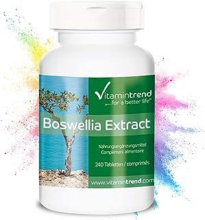 Extracto de Boswellia Serrata 400mg – 65% de ácidos boswéllicos – 240 Comprimidos