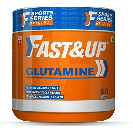 Fast&Up Glutamine (Unflavoured, 2 Month Supply) L-Glutamine For Muscle Building & Performance | Post Workout Recovery & Muscle Growth (300g)