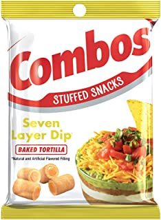 COMBOS 7 Layer Dip Tortilla Baked Snacks, 6.3 Ounce (Pack of 12)