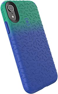 Speck Products CandyShell Fit iPhone XR Case, Evergreen Green Ombre Blueberry Blue/Blueberry Blue