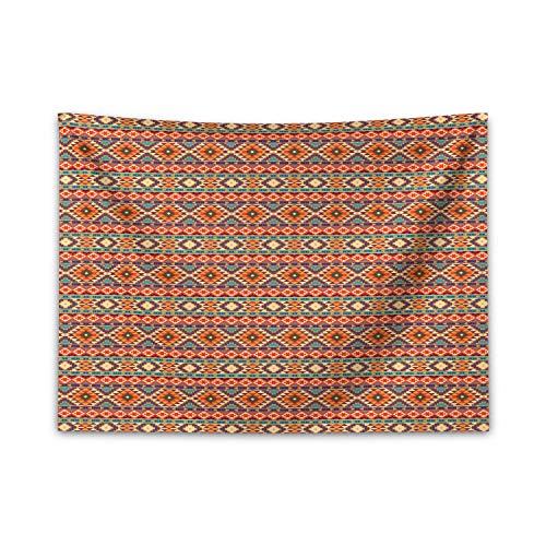 ABAKUHAUS Aztekenmuster Wandteppich & Tagesdecke, Kulturell Peru Motiv, aus Weiches Mikrofaser Stoff Für den Wohn & Schlafzimmer Druck, 150 x 110 cm, Mehrfarbig