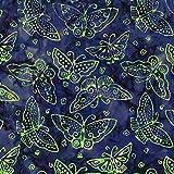 Laurel Burch Flying Colors Batiks Wurfstoff, Helles