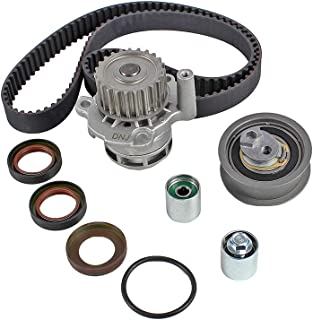 DNJ TBK802WP Timing Belt Kit with Water Pump for 2005-2015 / Audi, Volkswagen / A3, A4, A4 Quattro, Eos, GTI, Jetta, Passat, TT, TT Quattro / 2.0L / DOHC / L4 / 16V / 121cid / BPG, BPY, BWT, CDMA
