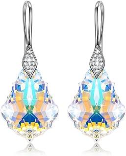 Alex Perry Joyas para Ella, Pendientes de Mujer, Plata de Ley 925, Cristal Fucsia de Swarovski, Diseño Sutil y Glamoroso
