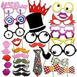 Veewon Accessoires Photobooth pour fête d'anniversaire Photos Moustache,...