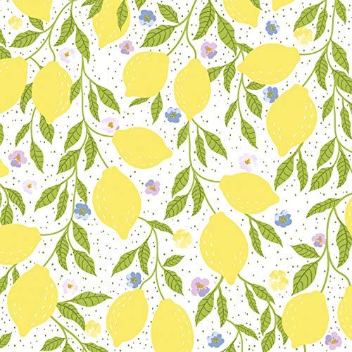 20 Servilletas de limones, frutas del Sur, 33 cm, con relieve