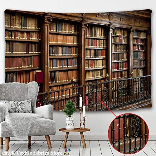 SHIZI Estantería retro con diseño de armario de vino, 3D, para colgar en la pared, colcha para decoración del hogar, dormitorio, biblioteca misteriosa