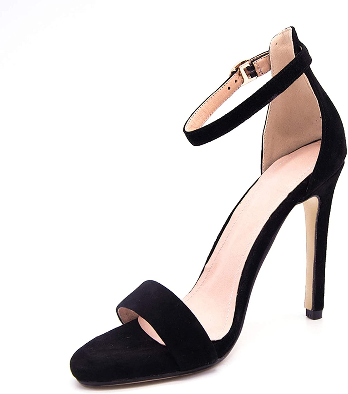 Meet at Summer-heeled samndals Ankle Strap Kid Suede Platform Sandals Super High Heels Waterproof Female Wedding shoes Sandalia Feminina