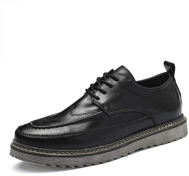 Hhgold 2018 Men's Comfort Lacing New Vintage Simple Outsole Business Oxford Casual Formal shoes (color  Black, Size  43 EU) (color   Black, Size   43 EU)
