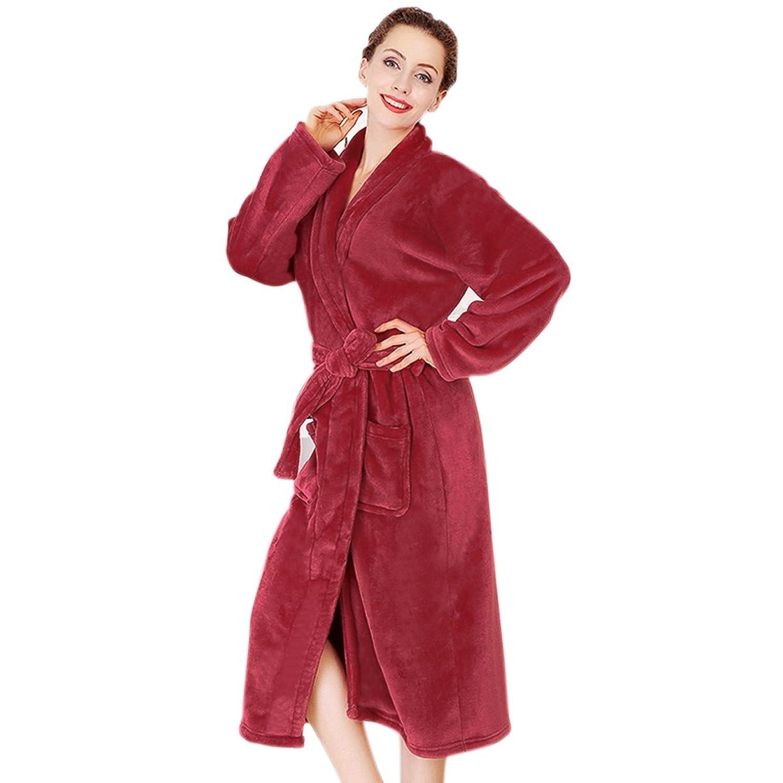 雪愛国的なキャメル(Baoxinjp)メンズ レディース パジャマ バスローブ カップル ガウン 部屋着 寝巻き 可愛い 人気 長袖 お風呂上り 男女兼用 新婚祝い ルームウエア フリーサイズ