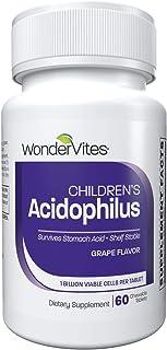 WonderVites Kids Probiotics Acidophilus, Grape Kids Chewable Daily Probiotic, Children's Probiotic, Supports Immune System...