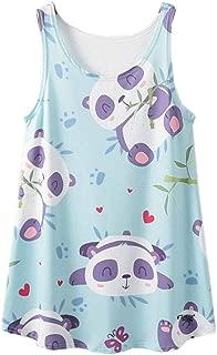 ACVIP Women's Pandas Print Casual Hot Weather Tank Top Singlet Shirt
