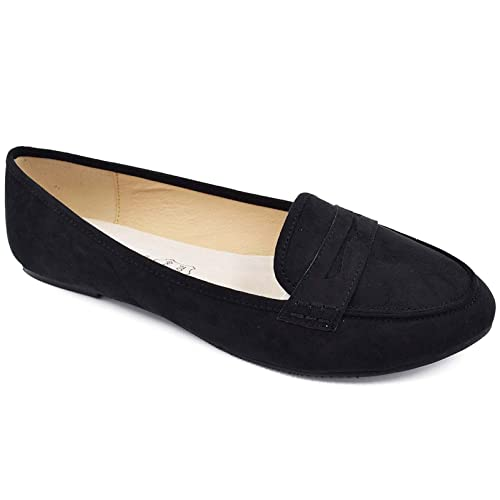 91d17a837307c Black Suede Loafers: Amazon.co.uk