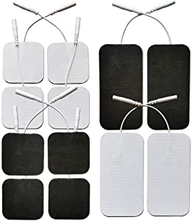 Premium Reusable TENS Unit Electrode Pads - Combo 12-Pack Self-Adhesive Electrodes Patches for TENS/EMS Massage Therapy