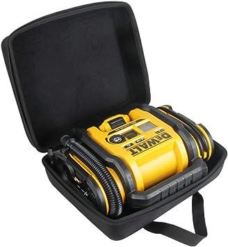 Hermitshell Hard Travel Case for DEWALT DCC020IB 20V Max Inflator (Case for Inflator + Battery Pack, Black): image