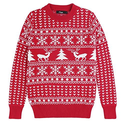 iClosam Maglioni Donna Natalizi Invernali Cotone Casual Manica Lungo Maglione Pullover Sweatshirt Felpa