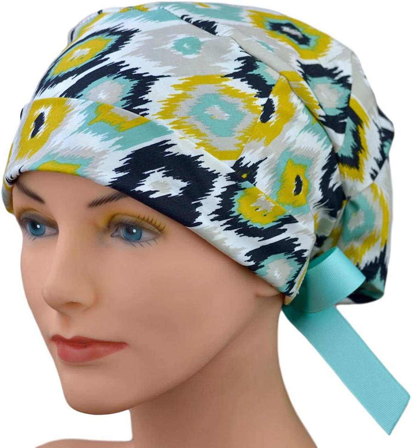 Scrub Hats for Women  Small to Medium with Ribbon Ties  Wild