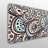 MEGADECOR Cabecero Cama PVC 10mm Decorativo Económico. Diseño De Mandala En Tonos Marrones (150cm x 60cm)