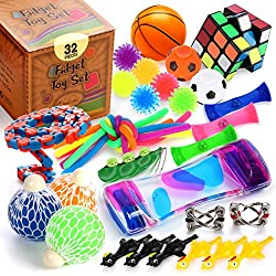 commercial A set of sensory toy fidgets, 25 pieces, a set of tools to relieve children's stress and anxiety … fun stress balls