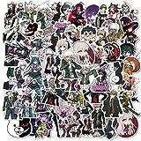 /Set Juego Danganronpa Monokuma Anime Pegatinas Metal Calcomanía Para Ordenador Portátil Monopatín Teléfono Coche Libro Juguete Pegatinas Regalo 50pcs