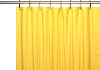 Hotel Collection Heavy Duty Mold & Mildew Resistant Premium PEVA Shower Curtain Liner with Rust Proof Metal Grommets - Assorted Colors (Bright Yellow)