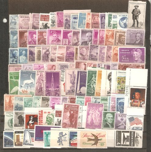 USA Collectible Postage Stamps: 100 Different Mint Unused USA Stamp Collection.