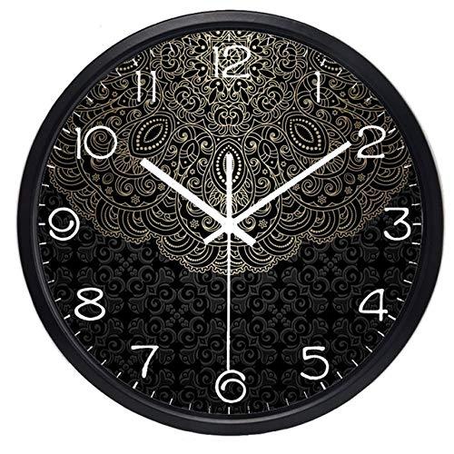Wanduhr China Lotus Totem Kreative Wanduhr, Lucky Cloud Clock Für Männer Frauen Wohnzimmer 12Inch B235B