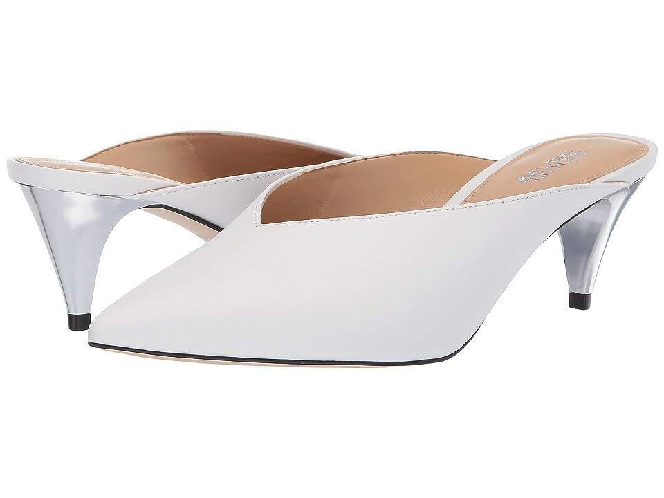 MICHAEL Michael Kors Cambria Mule (Optic White Vachetta/Galvanized Heel) High Heels