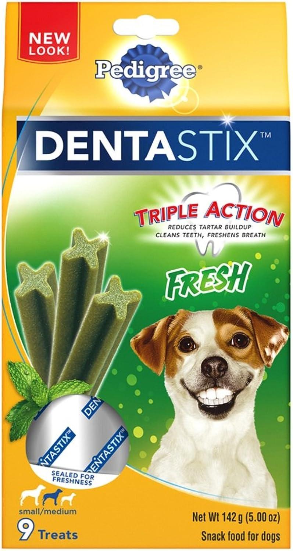 PEDIGREE DENTASTIX Fresh Small Medium Treats for Dogs  5 oz. 9 Treats (Pack of 7)