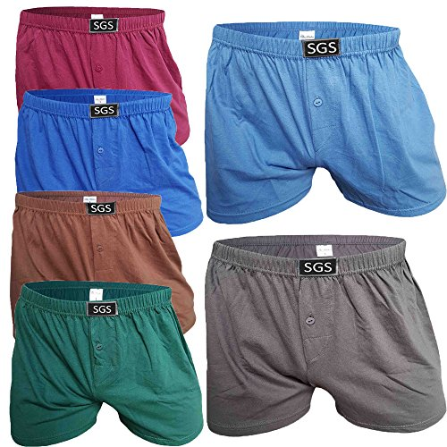 SGS 6-10 Pack Unterhosen Mann Herren Unterhosen Boxershorts Men (6.Stück, 11/5XL)