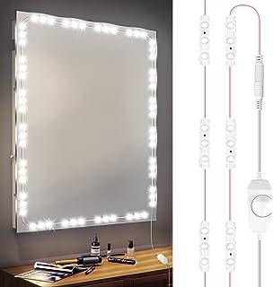 Redlemon Luces LED para Espejo Autoadheribles con Intensidad Regulable (60 LEDs), Tira LED de Luz Blanca con Focos LED par...