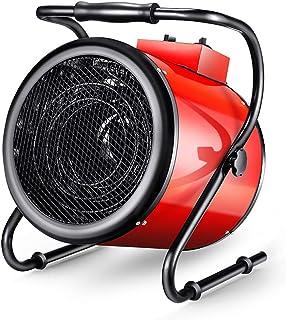 Calentador De Ventilador De Espacio Industrial Inclinable Con Termostato Ajustable Ventilador De Cilindro De Taller Controlado, Para Taller De Garaje Caravana De Cobertizo De Invernadero
