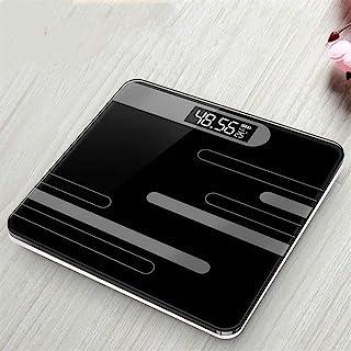 Báscula de baño Profesional Pantalla LCD de Piso Báscula Corporal Vidrio Báscula electrónica Inteligente Báscula Digital Duradera (Color: Báscula de baño Rosa)