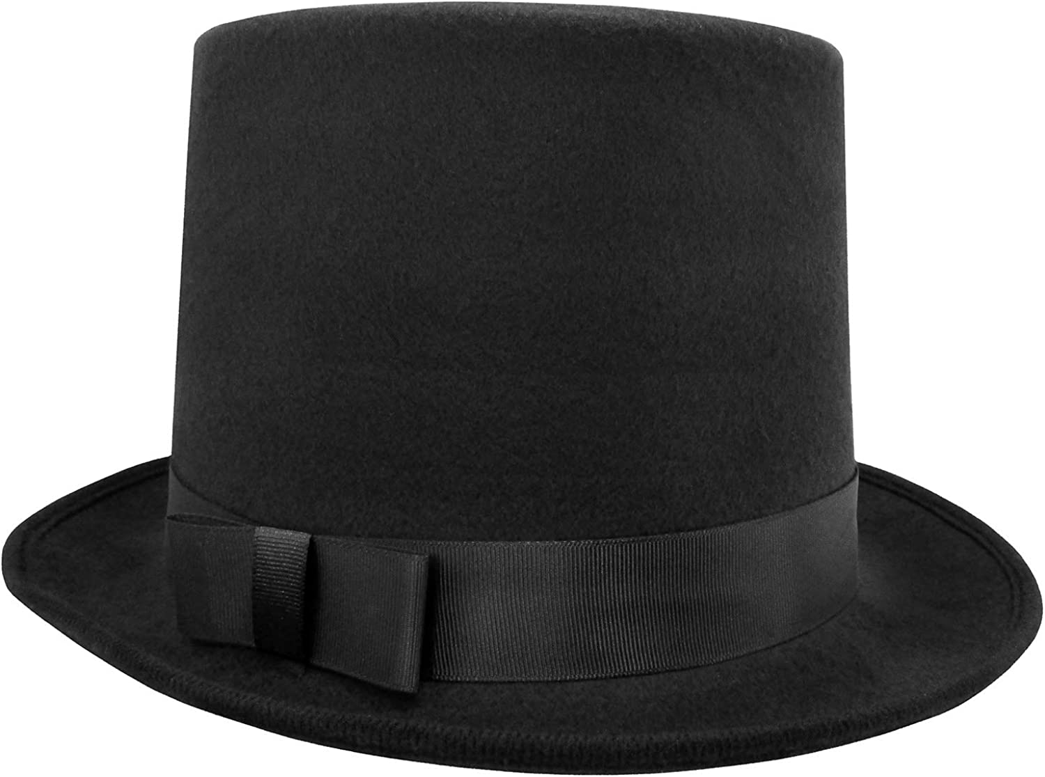 Wool Felt Costume Top Hat - Deluxe Tall for Ranking TOP8 Crown High A Super sale period limited