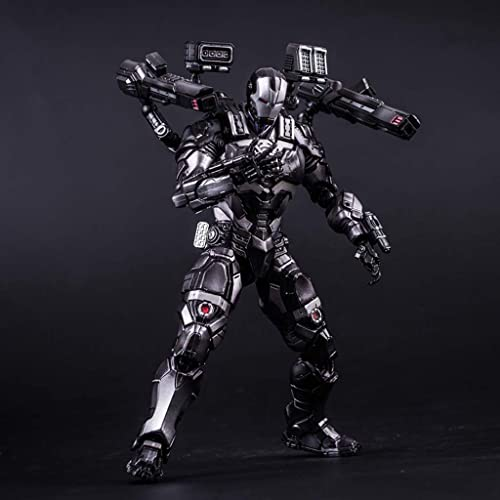 RMJAI Série Avengers - Décoration de modèle Iron Man Robot en Boîte de PVC Boutique Modèle Fait Main Jouets Cadeaux de fête Souvenirs Collectionneurs (9.8 Pouces) Figurine