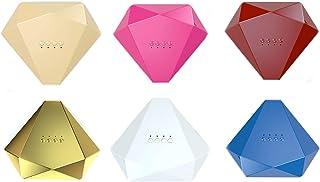 Lámpara de uñas de diamante inteligente de 48 W, fuente de luz dual, sin daños en las manos, lámpara de uñas de secado rápido, control de temperatura inteligente, ajuste de cuatro velocidades